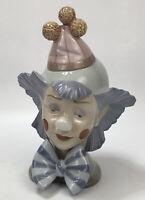 "RARE Lladro DAISA #5612 Reflecting Clown Head Bust Figure 10"" Retired AA"