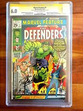 Marvel Feature #1 1971 1st Defenders CGC 6.0 Signed 2x Stan Lee Neal Adams VHTF!