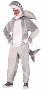 Deluxe Shark Halloween Costume Adult Men Women Gray Fish Jaws Week Standard New