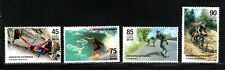 6Cuba   2019  EXTREME SPORTS surfing, rock climbing, biking   Cpl set of 4  MNH