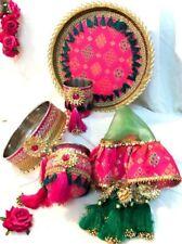 More details for karwachauth thali set. 5 piece set. perfect for karwachauth. pooja thali.