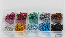 Aluminum Open Round Jumprings Jump Rings A box of 10 colors each color 100pcs