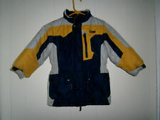 Boy's Youth Blue Yellow Silver Fleece Lined Jacket Size M 5-6 Osh Kosh B'gosh