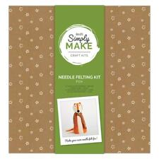 Simply Make Large Fox Needle Felting Craft Kit -  Woodland Christmas Decoration