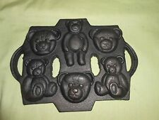 Cast Iron Candy Teddy Bear Mold Baking Cookies