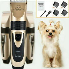 Pet Dogs Cordless Hair Clipper Low Noise Electric Trimmer Shaver Grooming Set