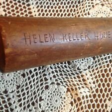 ANTIQUE VINTAGE PRIMITIVE HELEN KELLER WOOD ROLLING PIN