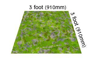 3'x3' Grasslands gaming mat Warhammer 40k WHFB AoS Age of Sigmar 28mm Malifaux