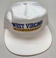 Rara 1980's West Virginia Mountaineers Mesh Snapback Hat Trucker Style Cap