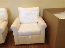 Pottery Barn Cameron Roll Arm slipcovered Rocker Swivel armchair nursery chair