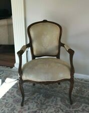 French Country Louis Xv Style Armchair Fauteuil Carved Wood c.1920