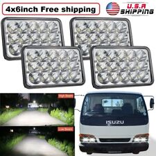 For Isuzu NPR / NRR / Impulse 4''x6'' LED Headlight Sealed Beam Replacement 4Pcs