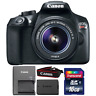 Canon EOS Rebel T6 18MP DSLR Camera with 18-55mm IS II Lens and 16GB Memory Card