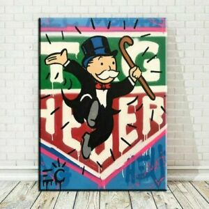 LL195 Hand-painted Alec Monopoly Oil Painting on Canvas Tag Heuer 36''