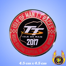 Isle of Man TT Races Road Racing Capital of the World 2017 Gel Badge Sticker