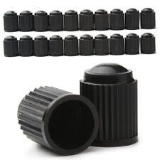 10 x Ventilkappen Kappen schwarz Plastik Kunststoff f. PKW Auto Bike Roller rund