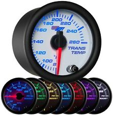 52mm GlowShift White 7 Color Transmission Temperature Temp Gauge - GS-W712