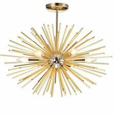 Champagne gold Brass Handcrafted 6 Light Sputnik Sphere Chandelier
