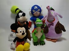 Disney Plush Lot Mickey Goofy Captain America Rex
