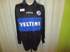 """FC Schalke 04 Adidas Langarm Matchworn Trikot 1997/98 """"VELTINS"""" + Nr.11 Gr.L"""