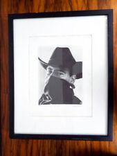 Original Western Cowboy Realism Pencil Drawing Portrait Seamus Conley Framed Art
