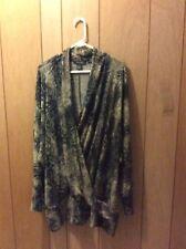 Linda Lundstrom Canada Lagenlook Tapastry Crossover Sweater Tunic XXL