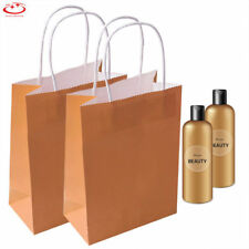 50pcs Party Bags Kraft Paper Gift Bag With Handles Recyclable Shopping Loot Bag