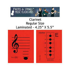 "Clarinet 4.25""x5.5"" Laminated Music Flashcards by N&S"