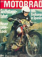 Motorrad 21 71 BMW /5 BSA Lightning Nello Pagani AVUS 1971 british bike Europa