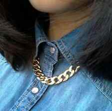 Fashion Elegant Punk Pendant 14K Gold GP Double Necklace
