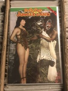 BETTY PAGE IN JUNGLE LAND BUNNY YEAGER PHOTOGRAPHY COMIC 1992 self published