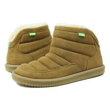 Sanuk Womens Puff N Chill Suede Boots Chestnut 7 New
