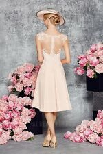Champagne Appliques Knee-length Chiffon Mother of the Bride Dress With Jacket