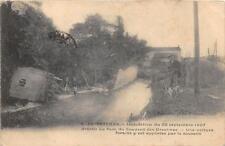 CPA 34 PEZENAS INONDATION 1907 BRECHE AU PARC DU COUVENT UNE VOITURE FORAINE Y E