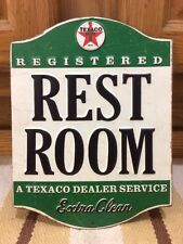 TEXACO RESTROOM METAL signs repair shop gas pump globe oil Vintage look Star