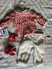 NWT Lee Middleton Doll Clothes Outfit Red Shirt Pants Archie Sandals HairBow