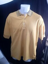 Men's PRO TOUR Performance Golf Shirt. Yellow, Sz L, Polyester mesh, breathable