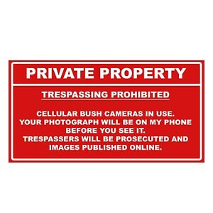 Private Property / 'On Camera' Sign Decal- Durable/Waterproof Vinyl Sticker