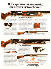 1977 Winchester Super-X Model 1 & Model 1400 Rifle photo vintage print ad