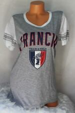 FREEZE (L) Collectible TRACK & FIELD Tee Top Gray White FRANCIA Graphics Shirt
