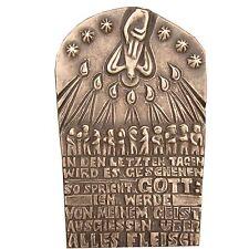 Bronzo in rilievo Pentecoste 14 cm