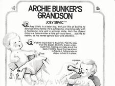 1970s Ideal ARCHIE BUNKER'S GRANDSON Joey Stivic Doll INSTRUCTION (Reproduction)