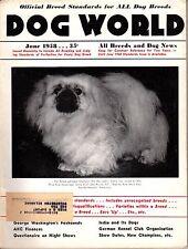 Vintage Dog World Magazine June 1958 Pekingese Cover