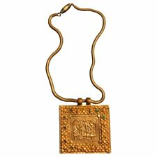 An Early Gilt Bronze Necklace by Line Vautrin Art Jewelry