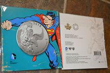 SUPERMAN $20 Dollar Coin Royal Canadian Mint FINE SILVER DC Comics *NEW* 2015
