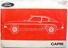 FORD CAPRI - Original Car Owners Handbook - OCT 1973 - #ENG DOM 1073