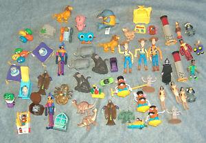55 Lot 1990s BK & McDonalds Toys Figures Disney Cars Woody Lion King Hot Wheels