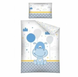 Baby Bedding Set Happy Hippopotamus For Crib Two-Sided Pillowcase Duvet Cover