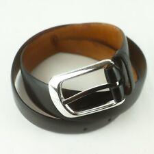 Auth LOUIS VUITTON CEINTURE ELLIPSE Men's Belt Leather Black Silver HDW 85/34