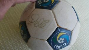 Autographed, Pele & 7 others Official COSMOS Soccer Ball 1979 Cosmos Soccer Club
